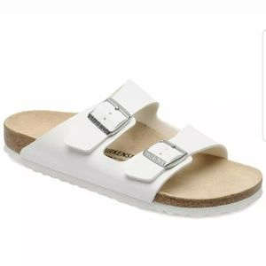 NWT White Arizona Birkenstock